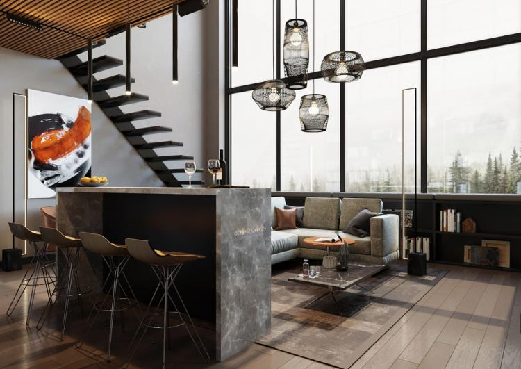 Гостиная «Дух свободы» - дизайн интерьера