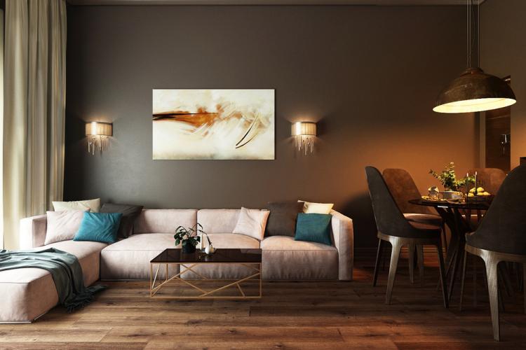 Гостиная «La vita al cioccolato» - дизайн интерьера