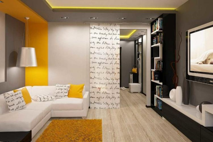 Отделка пола - Дизайн гостиной в хрущевке