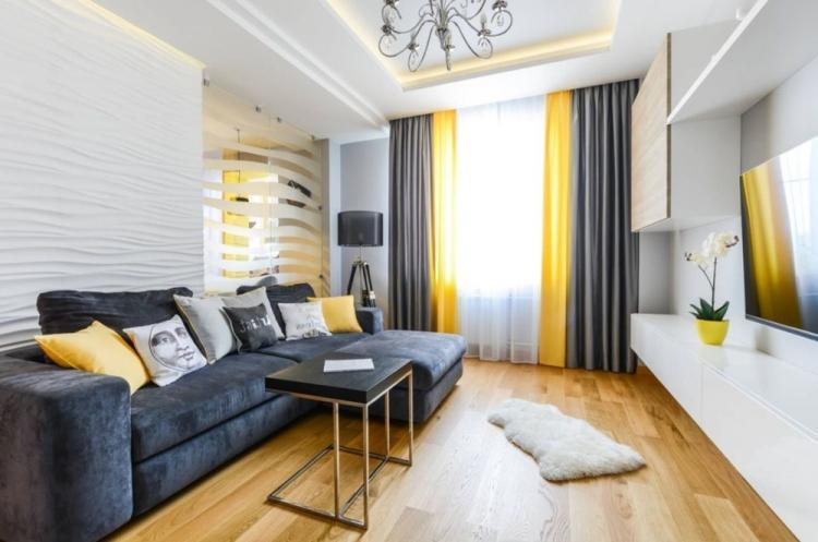 Современная гостиная в хрущевке - Дизайн интерьера