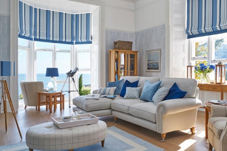 Средиземноморский стиль в гостиной в хрущевке - Дизайн интерьера