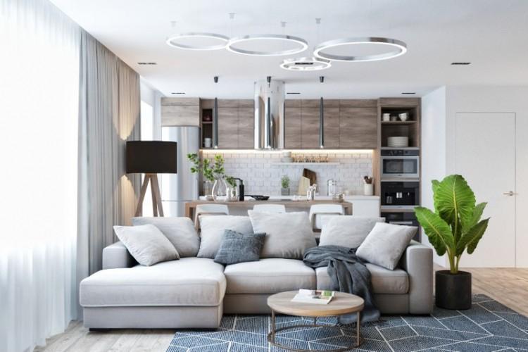 Гостиная в современном стиле: идеи интерьеров (100 фото)