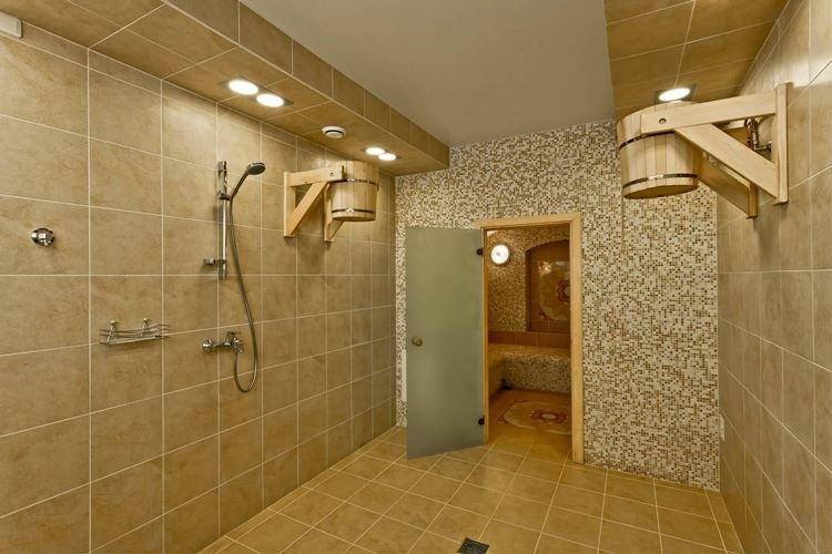 Душевая - Интерьер бани и сауны