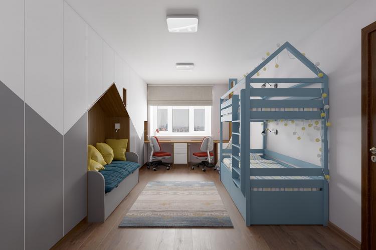 Интерьер детской комнаты для двух мальчиков