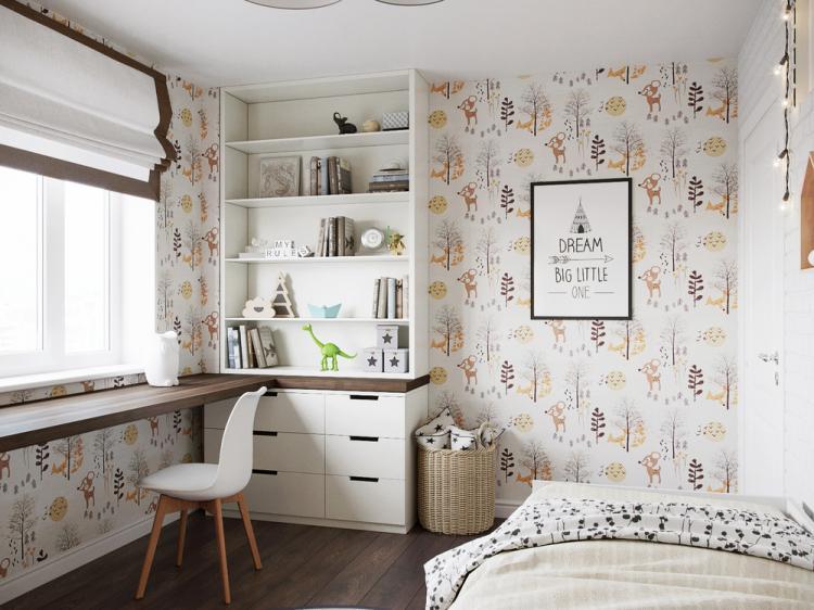 Интерьер детской комнаты «Мой дом»