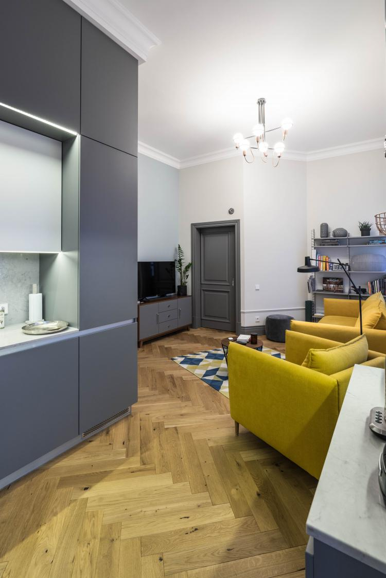 Интерьер квартиры на Мытнинской набережной