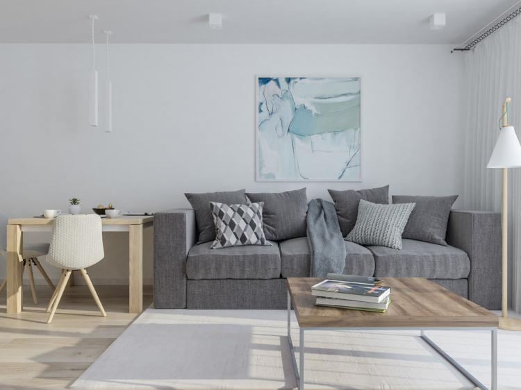 Интерьер квартиры-студии 40 м2