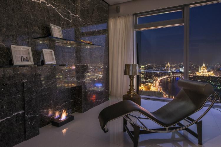 Интерьер квартиры в «Башне Петербург», Москва-Сити