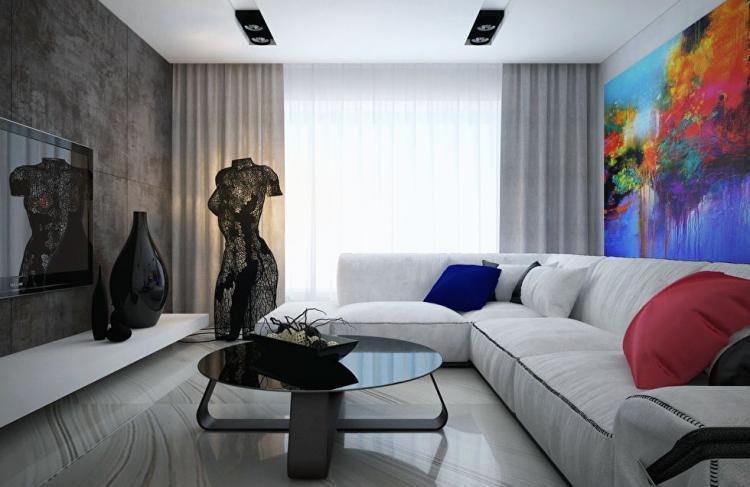 Интерьер квартиры в ЖК Obolon Residences, Киев