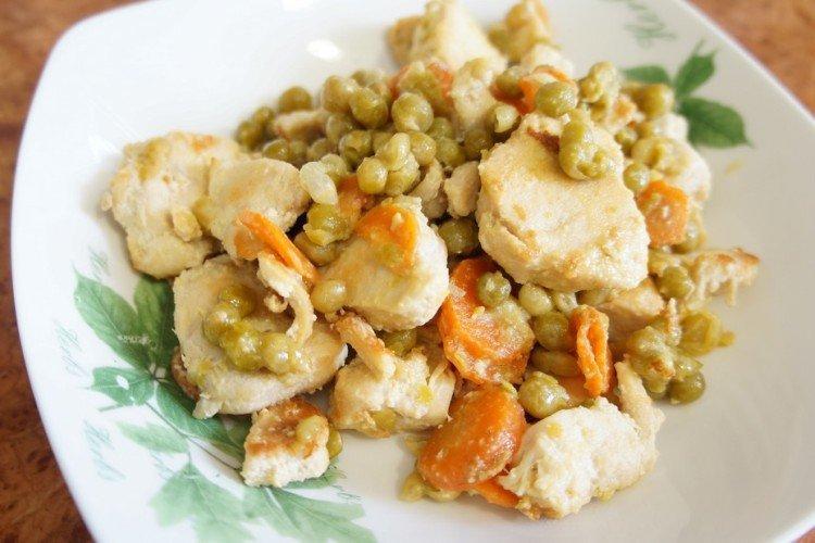 Курица с горошком - Как приготовить курицу на Новый год рецепты