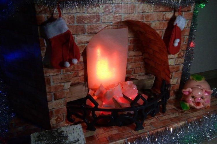 Как сделать огонь для фальш-камина своими руками