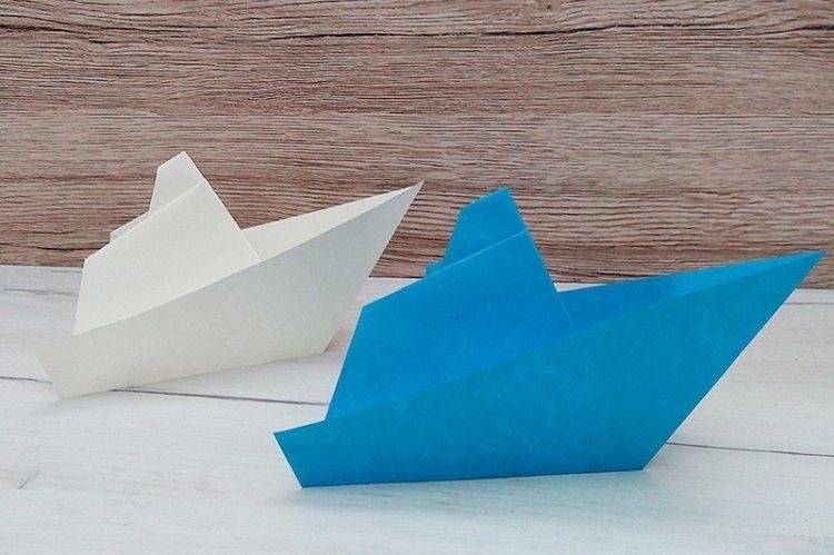 Кораблик-пароход из бумаги своими руками