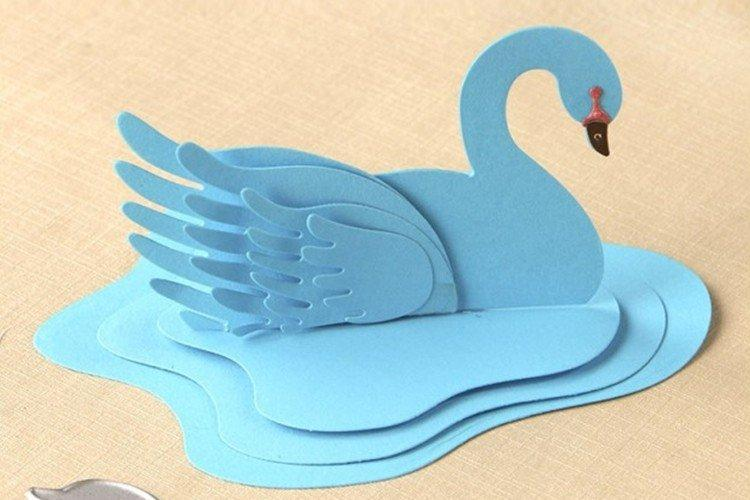 пекла объемный лебедь для открытки вкусностей обычно стоит