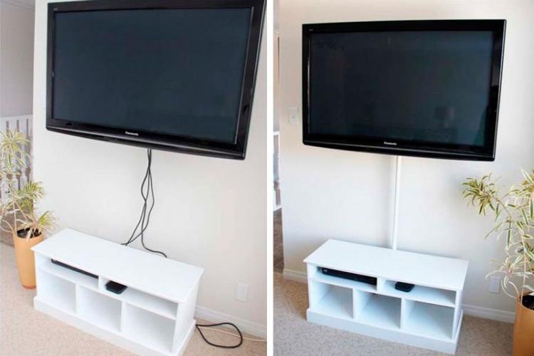 Маскировка кабель-каналом - как спрятать провода от телевизора