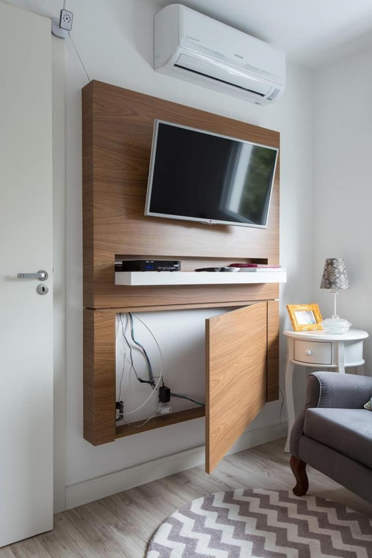 Провода за деревянной панелью - как спрятать провода от телевизора