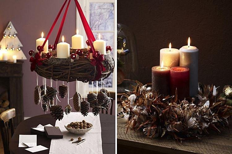 Свечи в интерьере - Как украсить комнату на Новый год