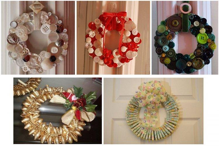 Оригинальные новогодние венки - Как украсить квартиру на Новый год 2020