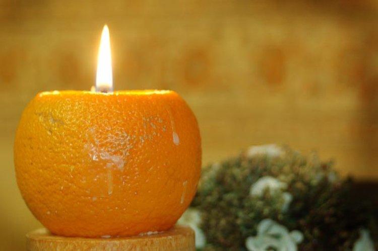 Цитрусовые новогодние свечи - Как украсить квартиру на Новый год 2020