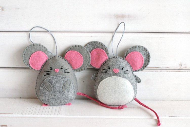 Новогодние крысы из фетра - Как украсить квартиру на Новый год 2020