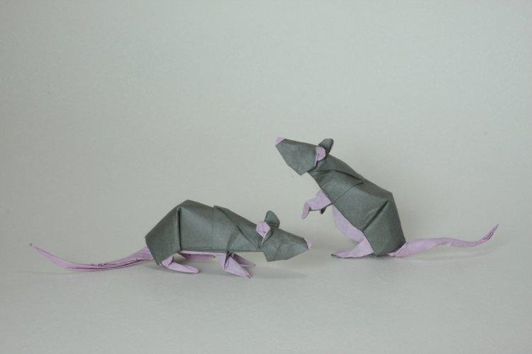 Новогодние крысы из бумаги - Как украсить квартиру на Новый год 2020