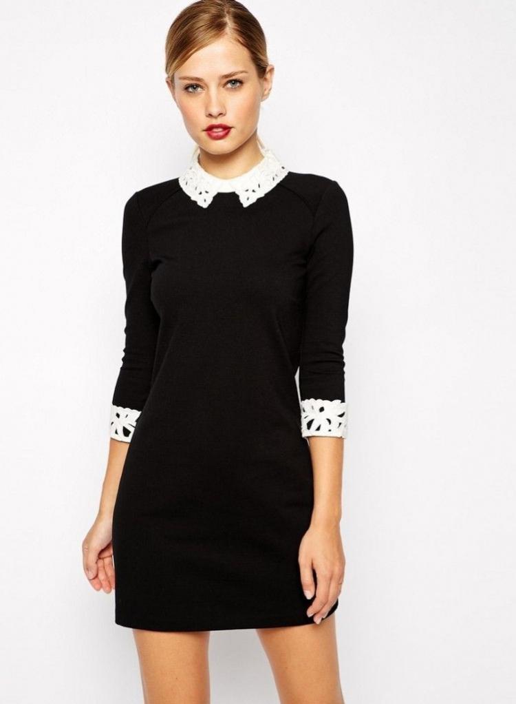 Стильный воротничок - Как украсить платье своими руками