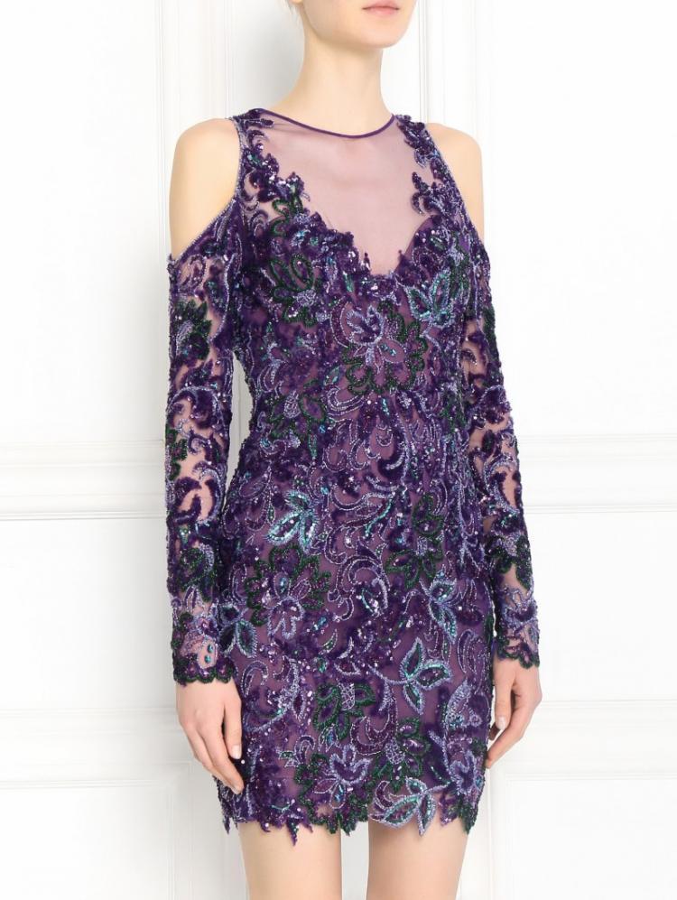 Украшение бисером, бусами и стразами - Как украсить платье своими руками