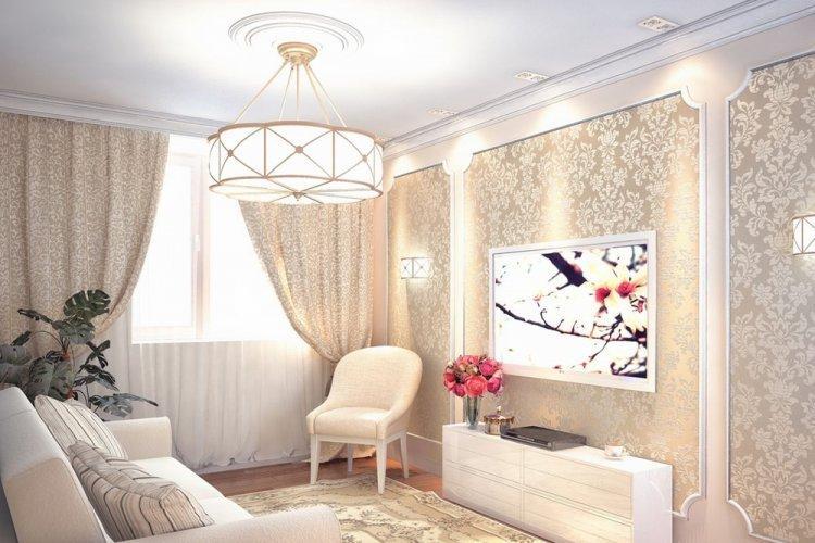 Большая люстра - Как визуально увеличить комнату