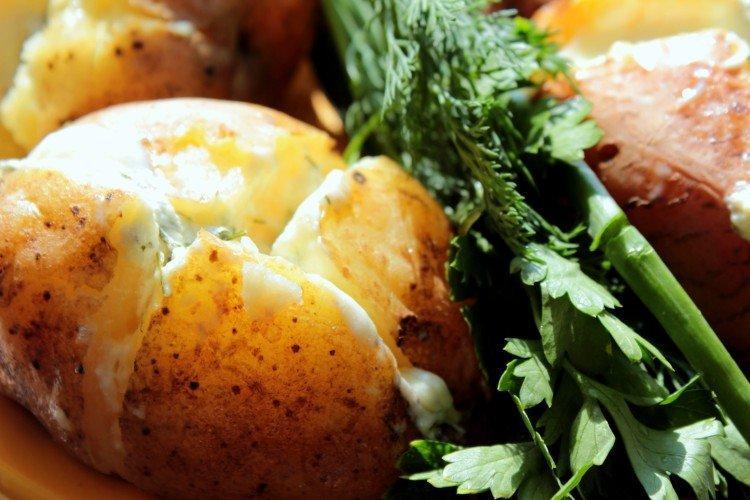 Мятый картофель с сулугуни запеченный в духовке - рецепты