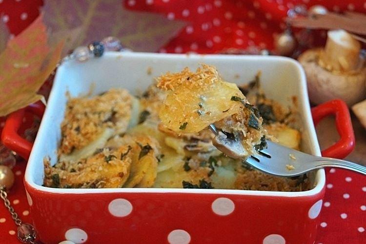 Картошка с грибами и лимоном в духовке - рецепты