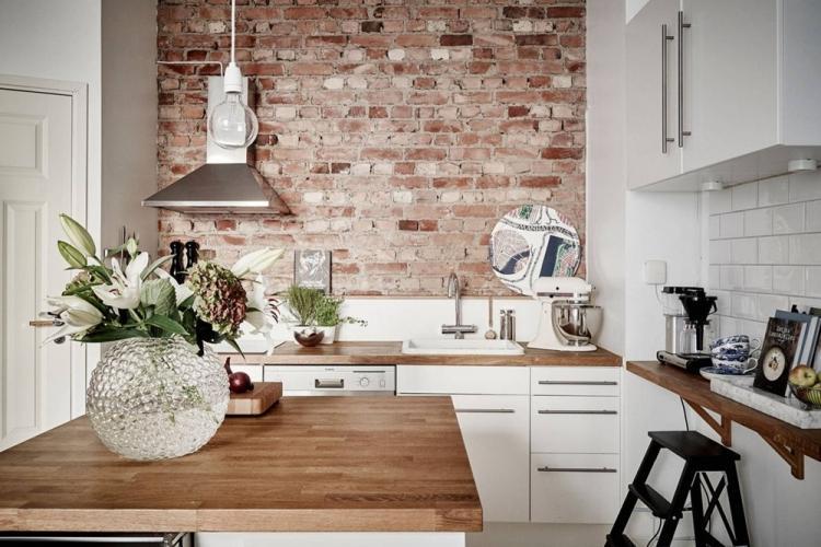 Как сочетать фактуры на кухне - Комбинирование обоев на кухне
