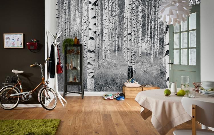 Фотообои - Комбинирование обоев в спальне