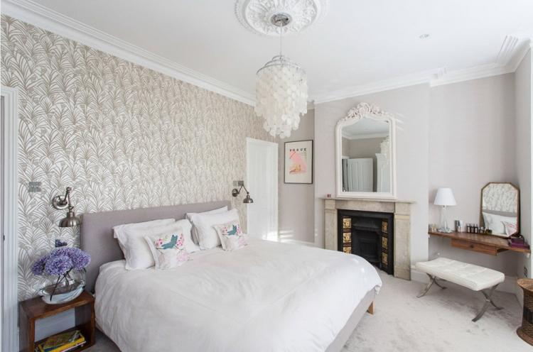 Обои-компаньоны и их особенности - Комбинирование обоев в спальне
