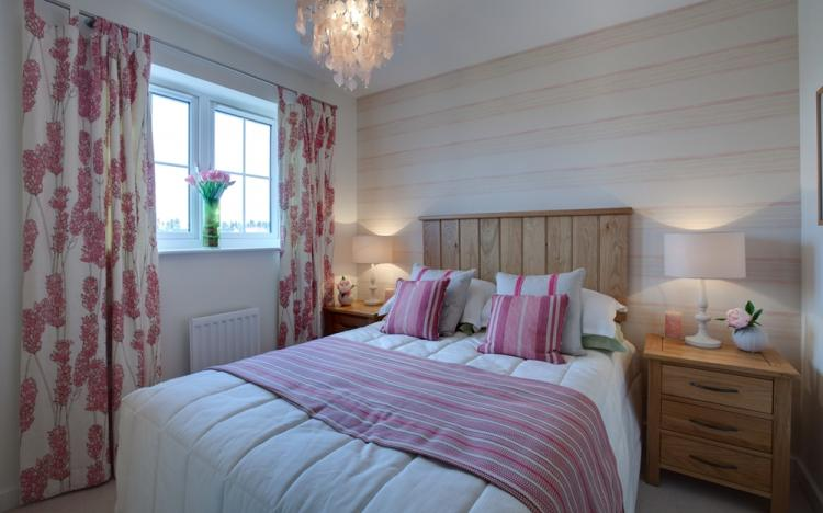 Однотонные сочетания - Комбинирование обоев в спальне
