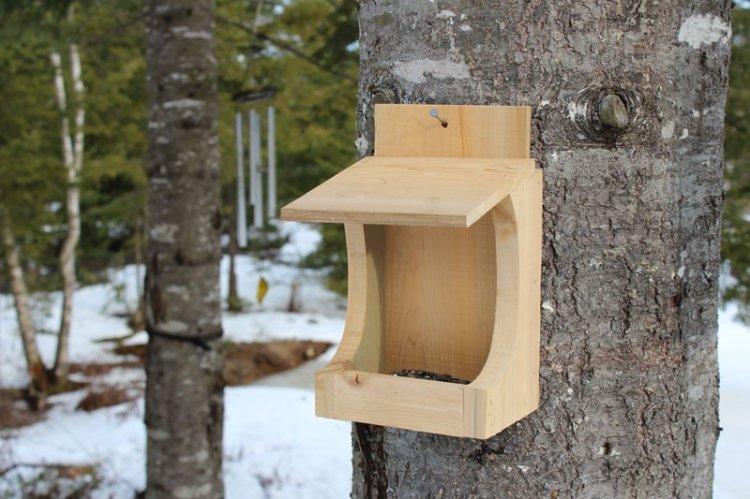 Кормушки для птиц из дерева своими руками