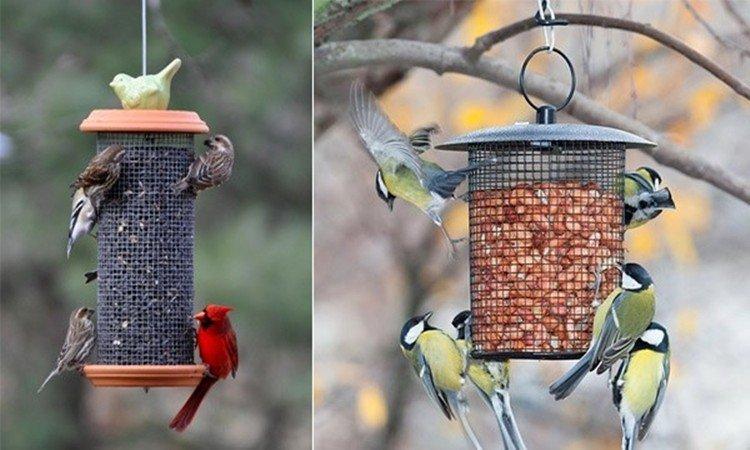 Кормушки-подвесы для птиц своими руками