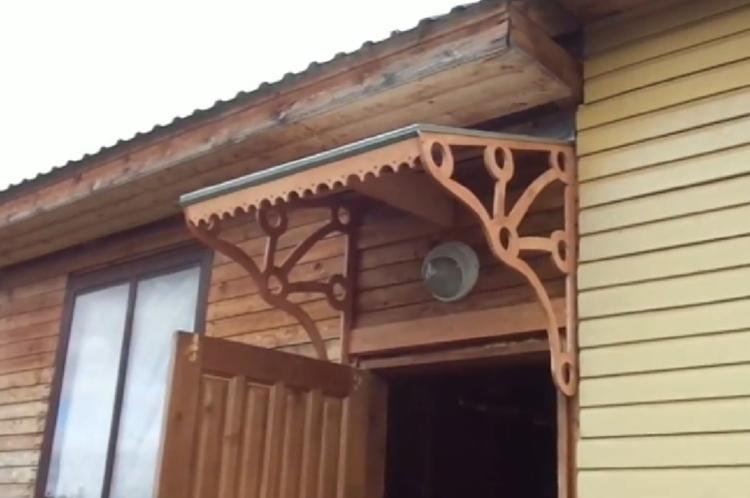 Деревянный козырек над крыльцом своими руками
