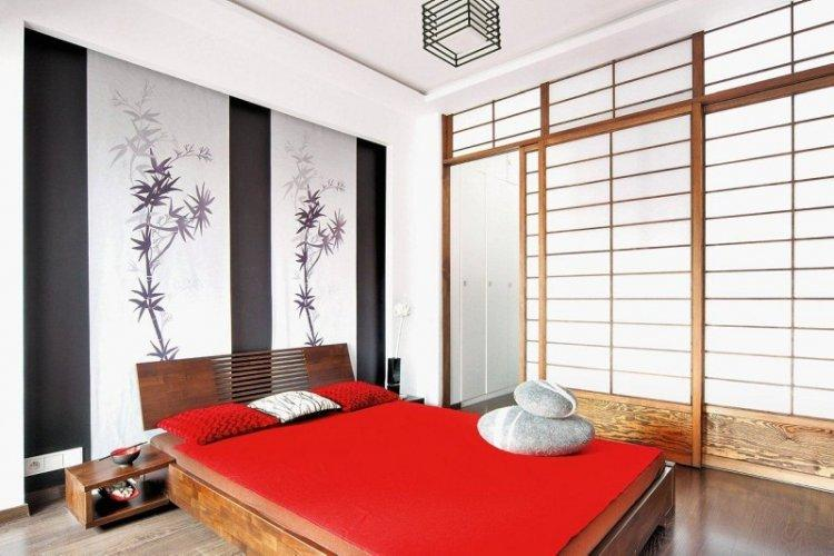 Японский стиль - Красный цвет в интерьере