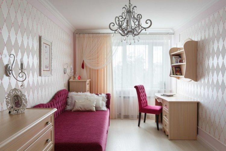 Красный цвет в интерьере детской комнаты - фото