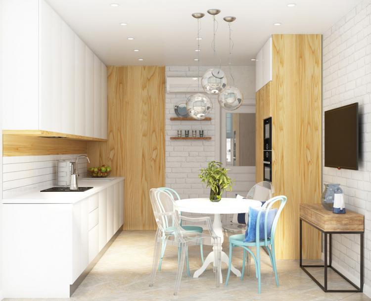 Кухня «Дыхание моря» - дизайн интерьера