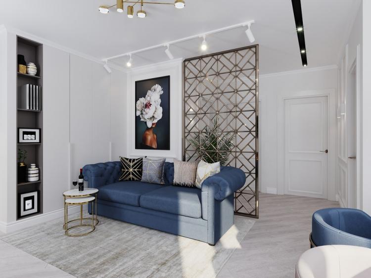Кухня-гостиная «Elegant gold» - дизайн интерьера
