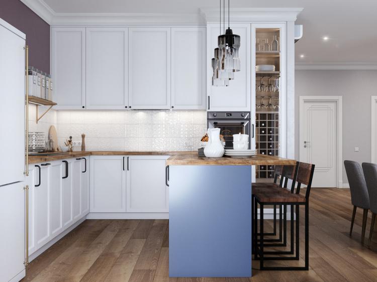 Кухня-гостиная «Красота в простоте» - дизайн интерьера