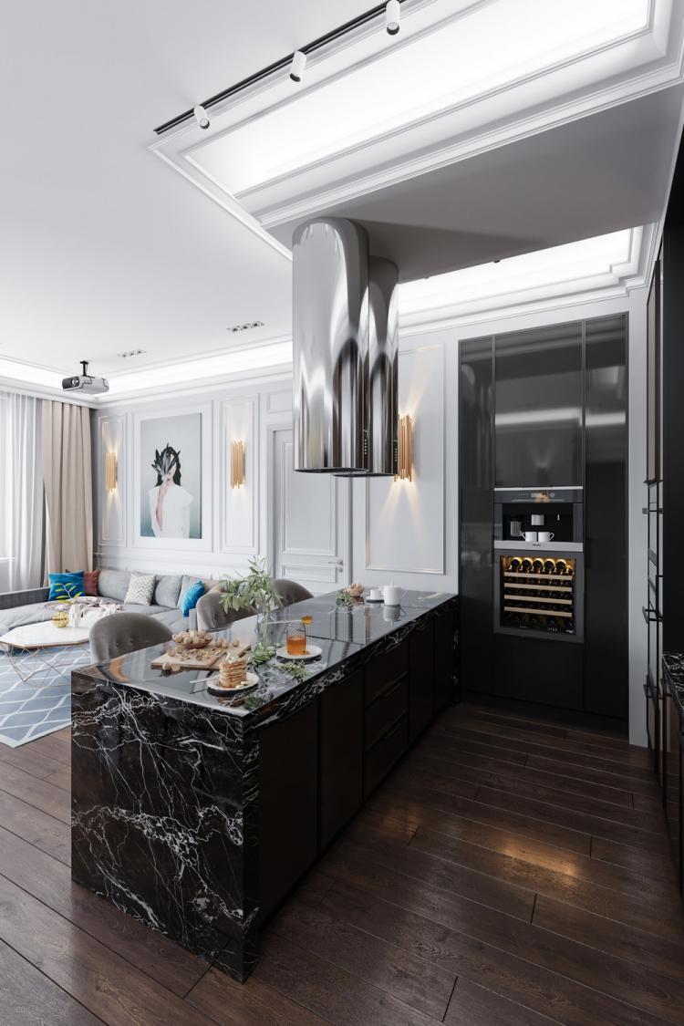 Кухня-гостиная «После дождя» - дизайн интерьера