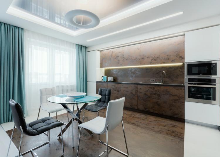 Кухня-гостиная «Торжество функциональности» - дизайн интерьера