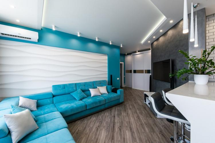 Кухня-гостиная «Turquoise Breeze» - дизайн интерьера