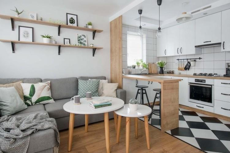 Зонирование - Дизайн кухни-гостиной в современном стиле