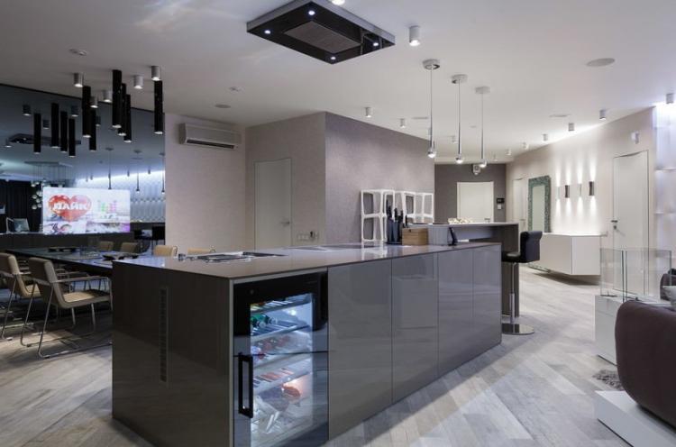 Кухня с островом в стиле хай-тек - Дизайн интерьера