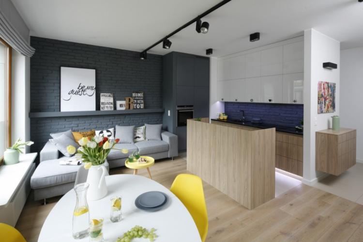 Дизайн кухни-гостиной с островом