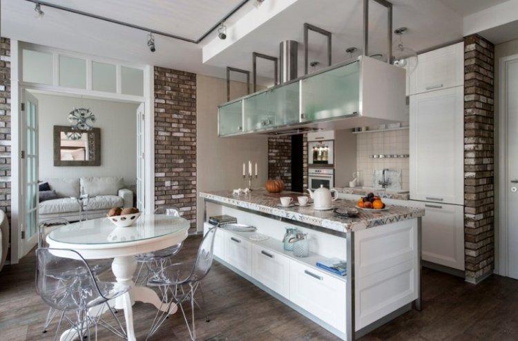Кухня-столовая в стиле лофт - Дизайн интерьера