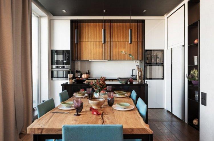 Цветовые решения - Дизайн кухни-столовой