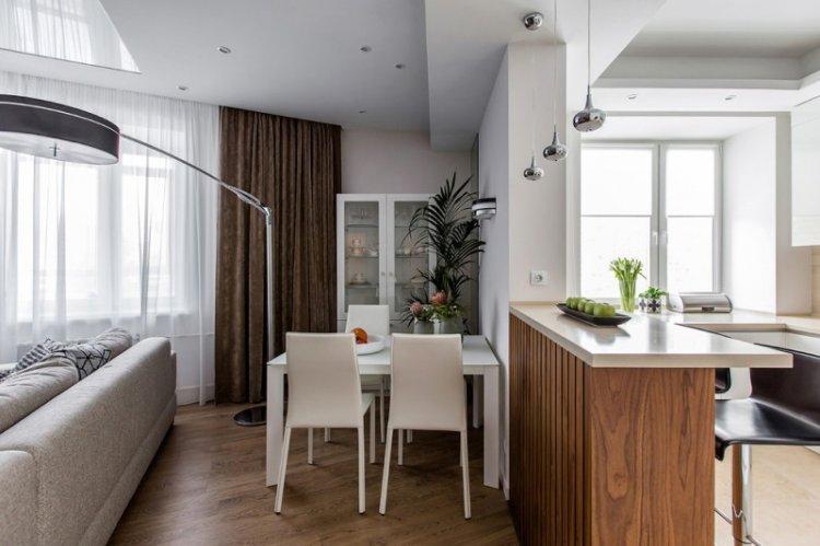 Зонирование - Дизайн кухни-столовой